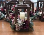 10 Bulk Wedding Lantern Centerpiece, Rustic Wedding Table Decoration, Farmhouse Decor, Wooden Candle Holder, Country Barn wedding Gift