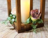 "16"" Lantern, Wood lantern, wedding centerpiece, table decor, home decor, lantern centerpiece, rustic wedding Country Barn wedding"