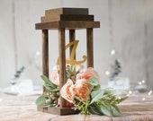 Wood lantern wedding centerpiece, Rustic Wedding Decor, Table Decoration alternative, Bridal Shower, Reception ideas simple, FARMHOUSE DECOR