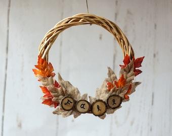 Home Rustic Wreath, Log Slice Wreath, Ready to Ship, Natural Wreath, Door Decor, Fall Front Door, Wood Wreath, Rustic Wall Decor