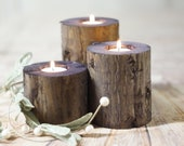 Wood candle Holders, Rustic Wedding Centerpiece, Modern Home Decor, Farmhouse Coffee Table Decorations, Wooden Tealight Votive, Indigo gift