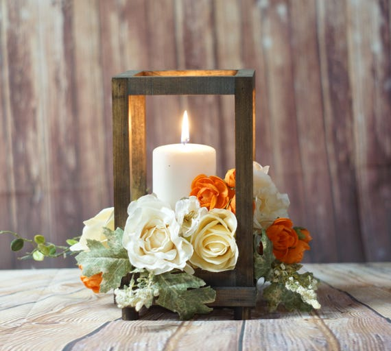 Rustic Wood Candle Lantern Wedding Lantern Rustic Lantern Etsy