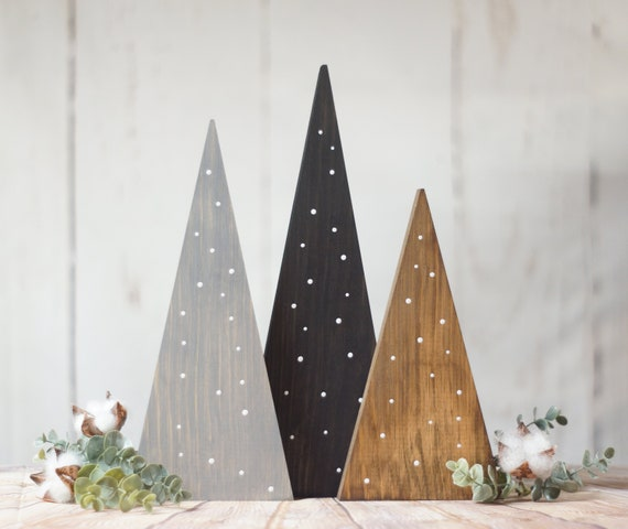 Christmas Home Decor 2019.Farmhouse Christmas Tree Set Table Centerpiece Rustic Home Decor Fireplace Mantle Holiday Decorating Ideas House Gift Trends 2019 Porch