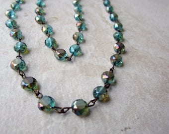 Double Wrap Glass Bead Necklace