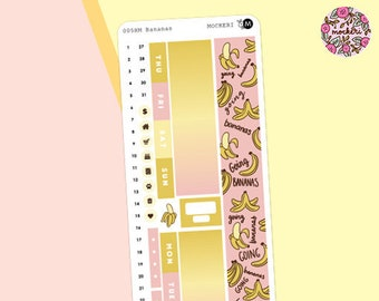 Bananas Hobonichi Weeks MONTHLY Sticker Kit / Planner Stickers