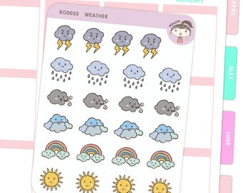 Weather Stickers / Planner Stickers