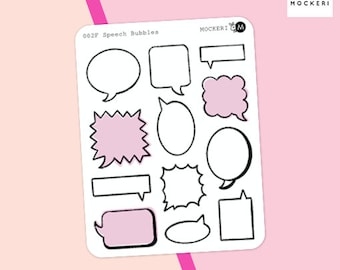 Speech Bubble Stickers / Functional Stickers / Planner Stickers