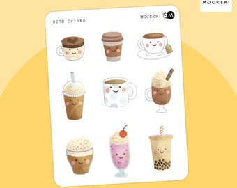 Coffees, Teas, Drinks Stickers / Planner Stickers