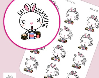 Eat Everything Lula Stickers / Planner Stickers