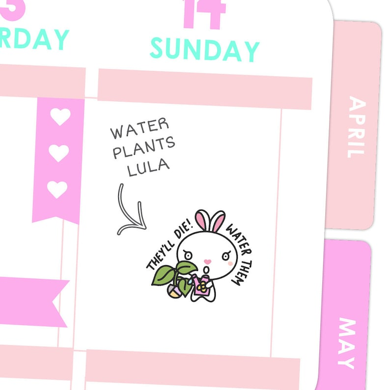 Water Plants Lula / Planner Stickers image 0