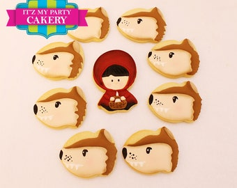 Red Riding Hood and Wolf Cookies - 1 Dozen