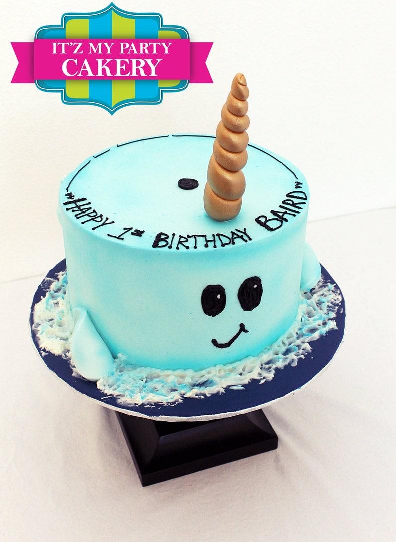 Narwall Horn Cake Topper Set