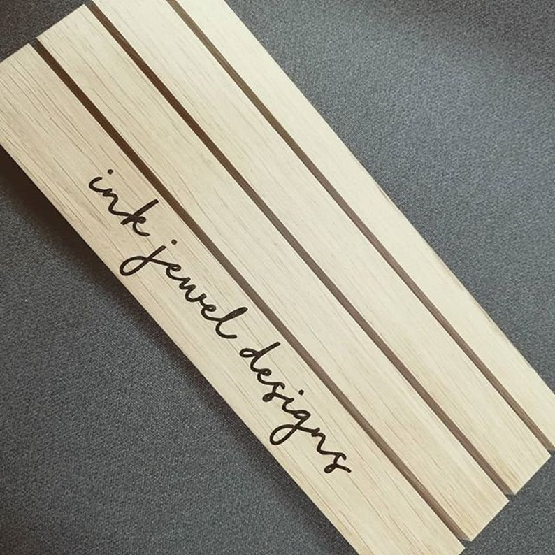 Wooden Craft Display Stand Personalised Retail Display Oak Shop Display Jewellery Card Stand Earring Card Holder Elevated Card Display