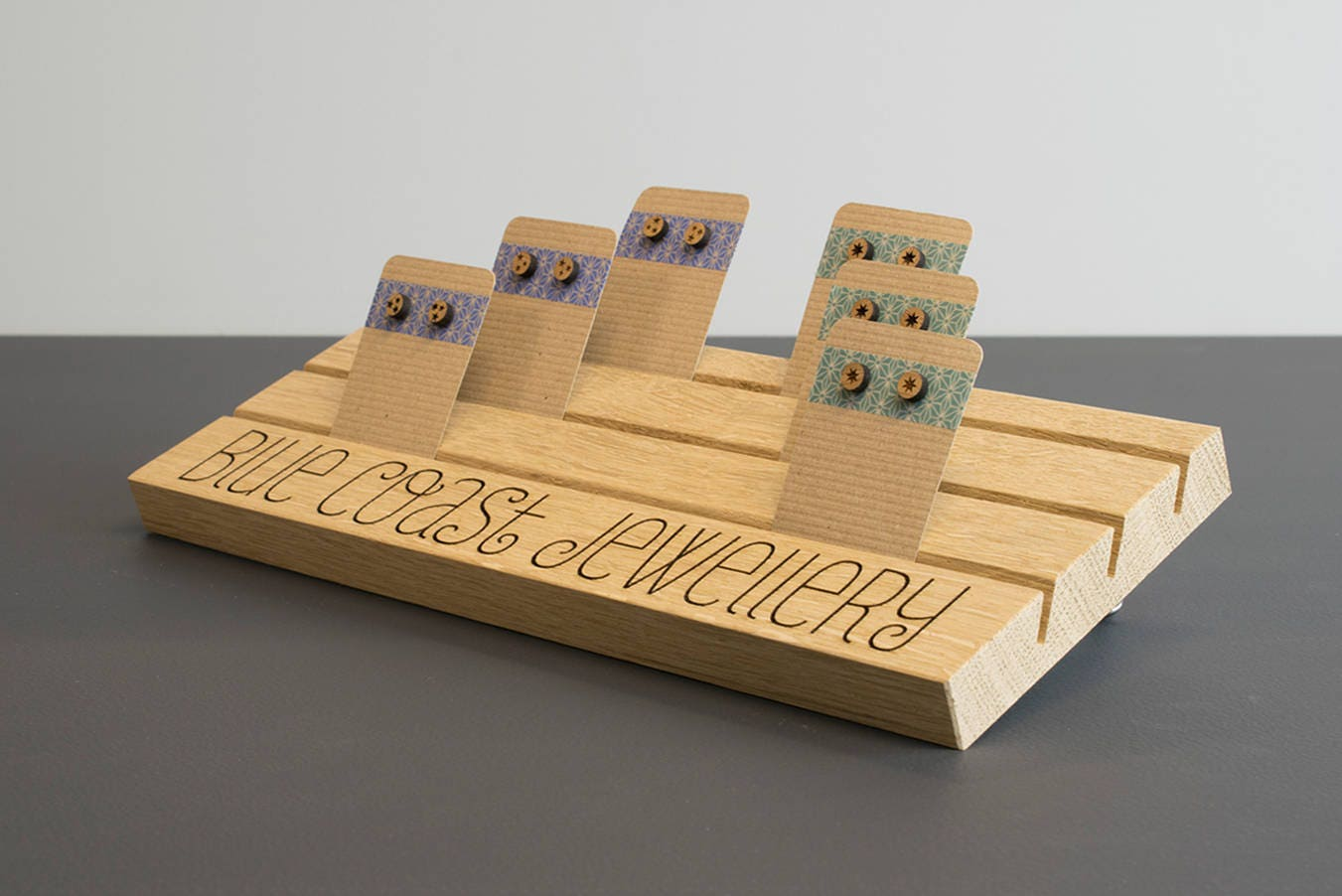Elevated Card Display Wooden Craft Display Stand Jewellery Etsy