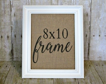 Add A Frame To Your Burlap Print