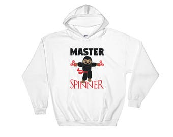 Master Spinner Ninja Black Ninja Warrior Birthday Gift Hooded Sweatshirt
