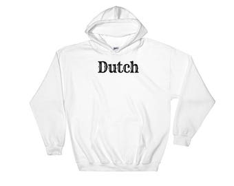 Dutch Art Print Hooded Sweatshirt