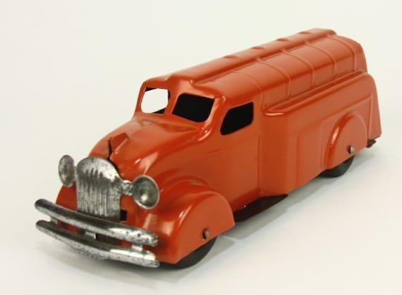 Wyandotte fuel tank deco pressed steel vintage toy tanker etsy