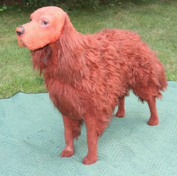 IRISH SETTER CHARMING DOG GREETINGS NOTE CARD DOG WITH BIRD HEAD STUDY