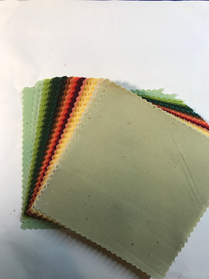 American Made Brand Cotton Solids 5\u201d Squares Color Autumn 42 pieces Charm Pack