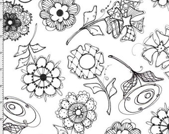 Loralie Paper Posies Cotton Fabric BTY