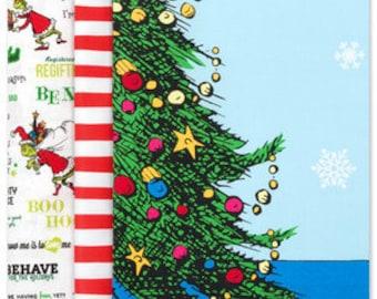 Robert Kaufman Fabrics -  Quilt Kit: How the Grinch Stole Christmas Advent Calendar by Dr. Seuss™ Enterprises   Sold by Kit
