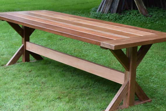 Large Patio Table Outdoor Dining Table Patio Table Mahogany Etsy