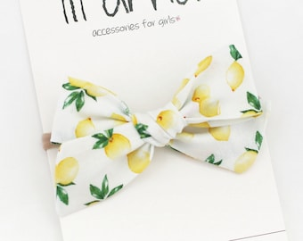 Summer Baby Headband Yellow Baby Bow