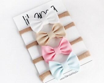Baby Headbands - Baby Girl Bow Headband - Bow Headband Set -  Baby Bow Headbands - Nylon Headbands - Baby Headband Set - Baby Headband Bows