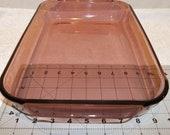 Beautiful Vintage Pyrex Cranberry Rectangular Casserole Baking Dish 3 QT Cake Pan Pink Glass Large Heavy Duty Oven Cook Ware Retro Kitchen