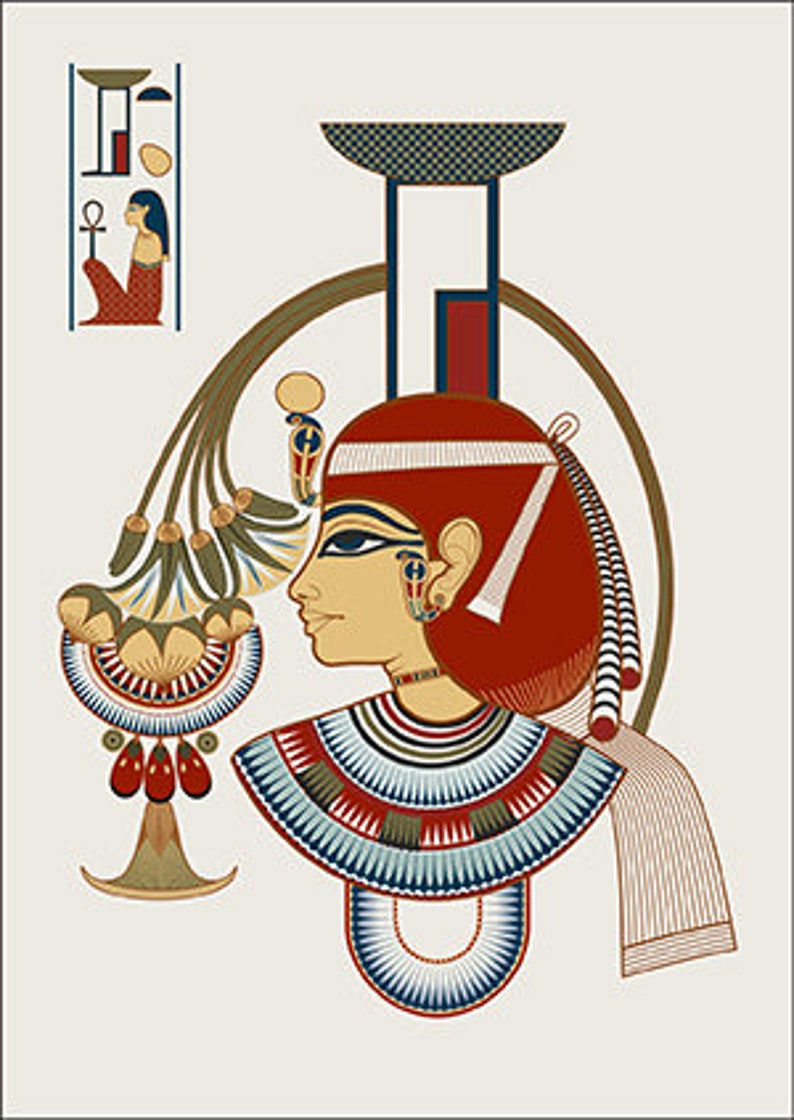Postcard with the image of Egyptian Gods