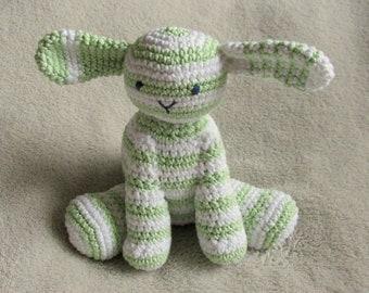 Green-white lamb crochet amigurumi 100% cotton