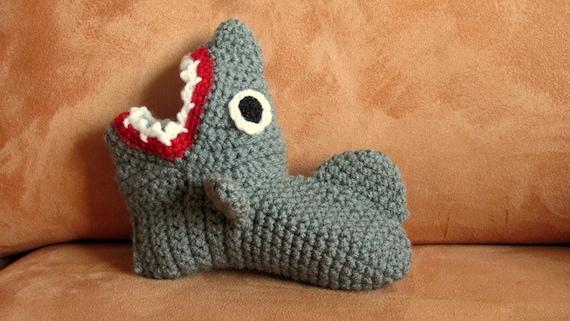 Crochet Pattern Shark Slippers Childrens Sizes Eur Sizes 23 Etsy
