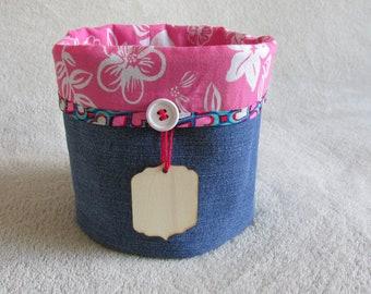 Reversible basket jeans & flowers