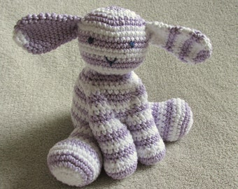 Lilac lamb crochet amigurumi 100% cotton