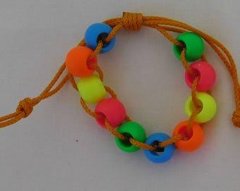 Plasticl Bead Fidget Bracelet, Golf Stroke Counter, Autism, Stim Toy, ADHD, SPD, Sensory, Quiet Fidget, Pocket Fidget,