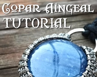 TUTORIAL - Halo - Wire Wrapped Pendant lesson for a Cabochon or Flat Bead - Jewelry Class, Lesson Necklace Pendant Wire Wrap
