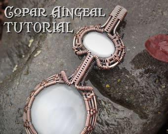 TUTORIAL - Pendulum Pendant - Wire Wrapped - Jewelry Pattern Circle, Oval Cabochon Wire Wrapped - Lesson - Class - Gemstone Necklace