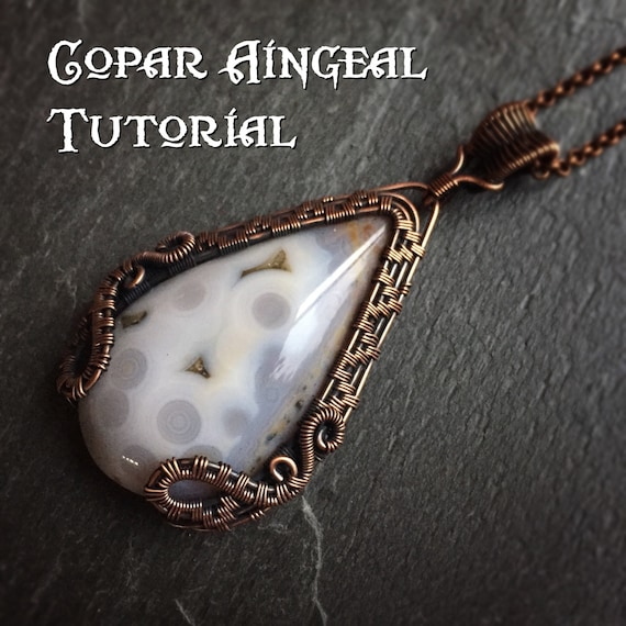 TUTORIAL - Dragon Gate Pendant - Wire Wrapping - Jewelry Pattern ...