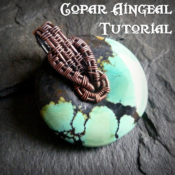 Tutorial interlock bail wrap pendant lesson wire wrapped etsy image 0 aloadofball Image collections