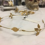 The ELLA Crown. Hair Vine Leaf Leaves Flower Floral Tiara Headband, Gold, Grecian, Elegant, Bohemian. Bride, Bridesmaid, Prom. Flower Crown.