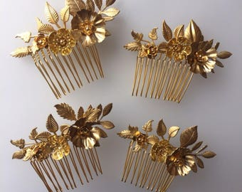 The FLORA COMB - Hand Made Floral Leaf Flower Hair Comb