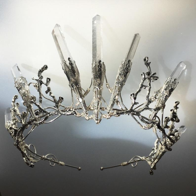 Game of Thrones! Alternative Bride Crystal Quartz Crown Tiara Magical Headpiece Festival The VENUS Crown