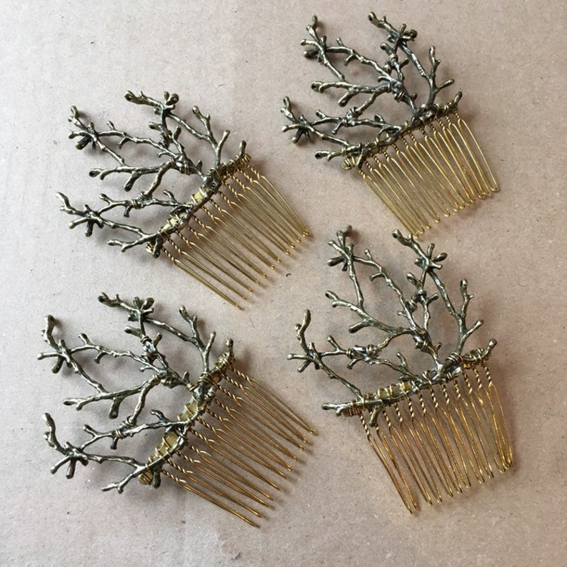 The TWIGGY COMB  Branch Twig Woodland Faerie Hair Comb image 0
