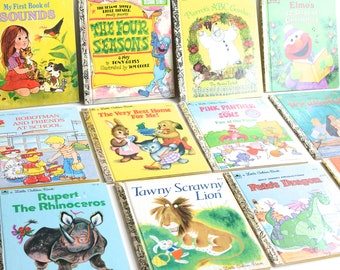 7 Vintage Little Golden Books - For Sale Individually - Children's Book