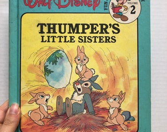 Thumper's Little Sisters - Vintage Disney Children's Book - Bambi