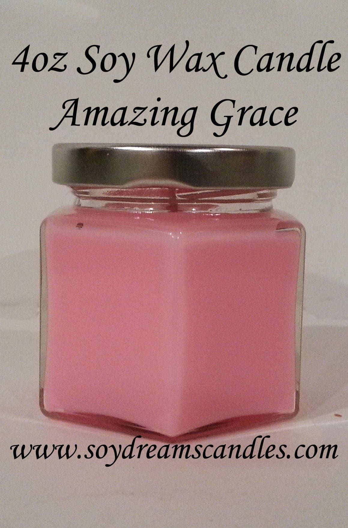 Amazing Grace - 4oz Gift Size Soy Candle Jar - Pink Candle - Best ...