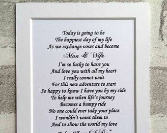 Groom gift from bride, Husband to be gift, Wedding day gift for husband to be, gift from bride to groom, Husband to be digital print option