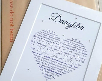 Personalised Daughter Gift Unique Birthday Mother Father From Mom And Dad Parent