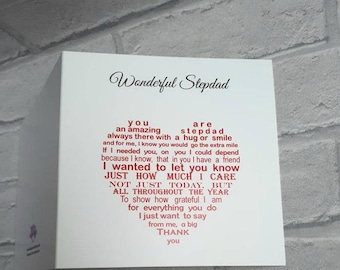 Step dad card, Card for stepfather, Birthday card for stepdad, Card for Step Dad Birthday, Birthday card for step Dad